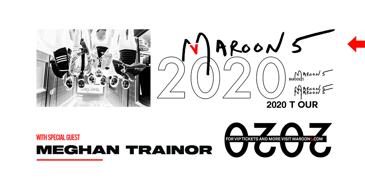 Maroon 5 Tour 2020.Maroon 5 2020 North American Tour With Special Guest Meghan